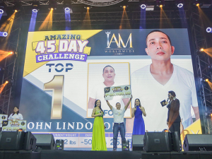 John Lindogan, a jail officer in Negros won the Amazing 45-day Challenge with a cash price of ₱50,000 price, slimming down from 195 lbs to 145 lbs in just 45 days. Congratulations!