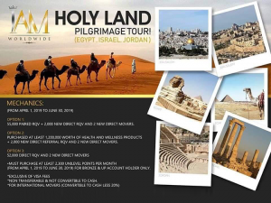 Get a chance to win a Holy Land Pilgrimage Tour! Check poster for details.